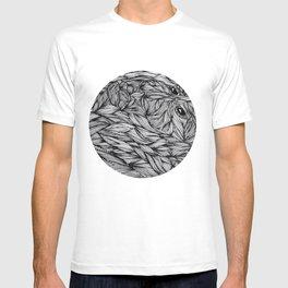 Man inside T-shirt