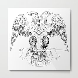 Two-headed eagle as Masonic symbol Metal Print