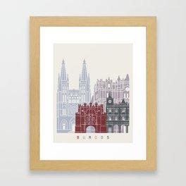 Burgos skyline poster Framed Art Print
