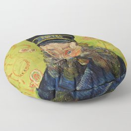 The Postman (Joseph Roulin) (1888) by Vincent Van Gogh. Floor Pillow