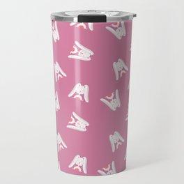 Rabbit pink | animal pink cute rabbits Travel Mug