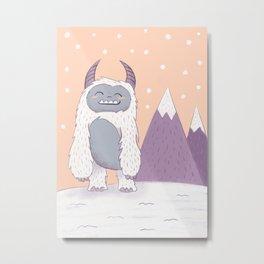 Yeti in the Mountains Metal Print