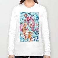 koi fish Long Sleeve T-shirts featuring Koi Fish by Art by Risa Oram