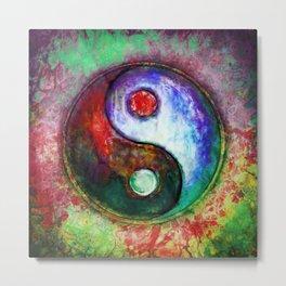 Yin Yang - Colorful Painting III Metal Print