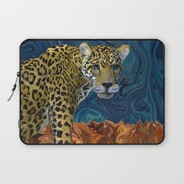 Leopard with the Sky in His Eyes Laptop Sleeve