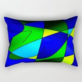 ABSTRACT CURVES #2 (Blues & Greens) Rectangular Pillow