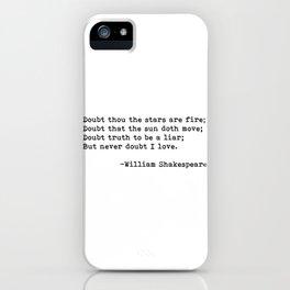William Shakespeare quote 02 iPhone Case