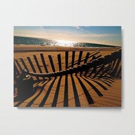 Ocean Shadow Metal Print
