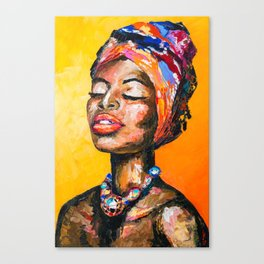 Black Magic Woman Canvas Print