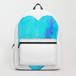 Turquoise Heart Full Of Love Watercolor Backpack