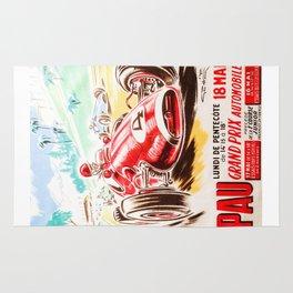 Grand Prix Pau, vintage poster, race poster Rug