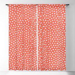 Living Coral Dots Pattern Blackout Curtain