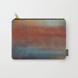 Rust & Turquoise Mint Patina  _Abstract Brush Strokes Painting collection Carry-All Pouch