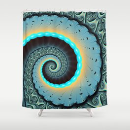 The Mother of All, Abstract Fractal Art Shower Curtain