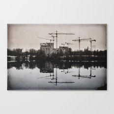 Industrial (retro postcard) Canvas Print