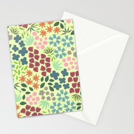 grouped flowers Stationery Cards