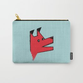 Red Origami Dog Carry-All Pouch