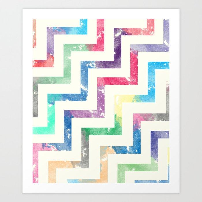 Colorful Geometric VI Art Print
