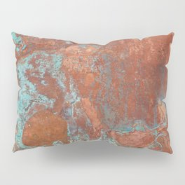 Tarnished Metal Copper Texture - Natural Marbling Industrial Art Pillow Sham