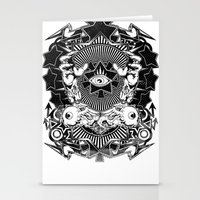 all seeing eye Stationery Cards featuring All seeing eye by Tshirt-Factory