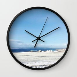Blue roof Wall Clock