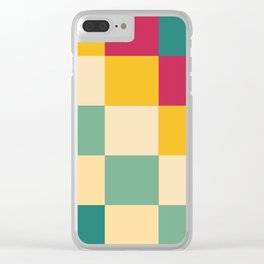 Vintage Summer Modernism Clear iPhone Case