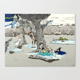 Books Coming to Life: Frozen Canvas Print