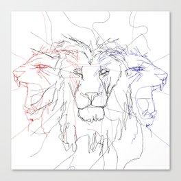 Three Lions Canvas Print