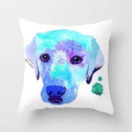 Basil the Lab Throw Pillow