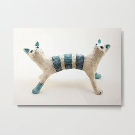 Two-headed Janus Cat Metal Print