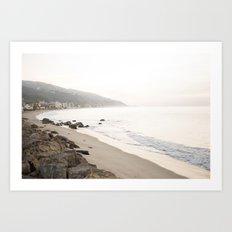 Malibu Beach Art Print