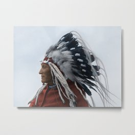 Lazy Boy - Blackfoot Indian Chief Metal Print