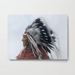 Lazy Boy - Blackfoot Indian Chief Metal Print