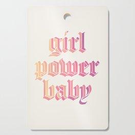 girl power baby Cutting Board