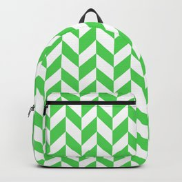 Herringbone (Green & White Pattern) Backpack