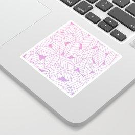 Leaves in Unicorn Sticker