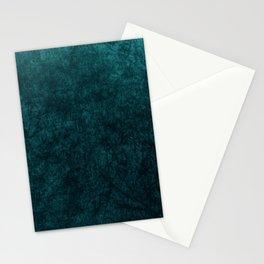 Teal Blue Velvet Texture Stationery Cards