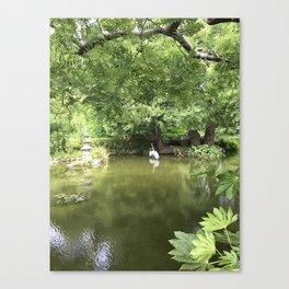 Japanese Tea Garden pond Canvas Print