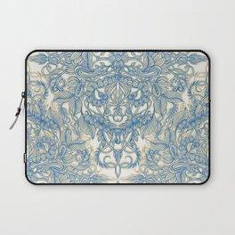 Blue & Tan Art Nouveau Pattern Laptop Sleeve