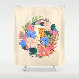 Botanical Tiger Shower Curtain