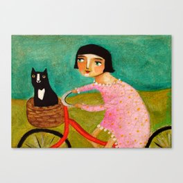Bike Ride to the Vet by Tascha Canvas Print