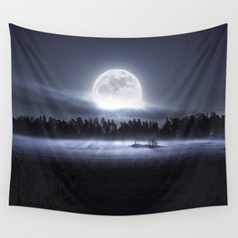 When the moon wakes up Wall Tapestry
