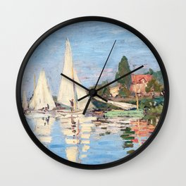 Claude Monet - Regattas at Argenteuil Wall Clock