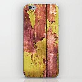 pea and rusty pink peel iPhone Skin