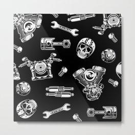 Cafe Racer Pattern Metal Print