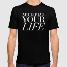 Art direct your life (Piece 05/08) Black Mens Fitted Tee MEDIUM