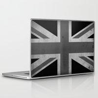 jack white Laptop & iPad Skins featuring Union Jack - Black&White by NicoWriter