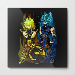 Goku & Vegeta in Mortal Combat cosplay colour Metal Print