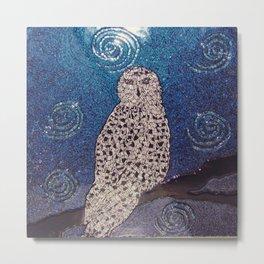 Blue toned Snowy Owl Metal Print