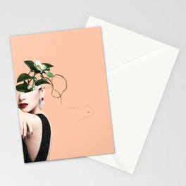 Lady Flowers XVI Stationery Cards